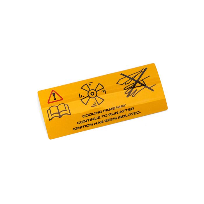 WARNING LABEL A/C FANS 4.0L V8