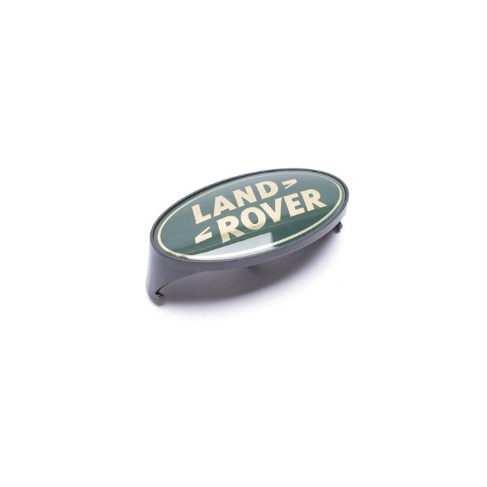 GRILLE BADGE LAND ROVER GREEN/GOLD DEFENDER