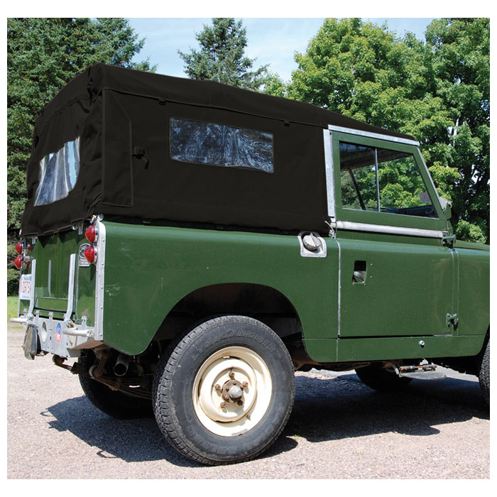 CANVAS TOP FULL LENGTH SERIES 88, WITH SIDE WINDOWS - BLACK