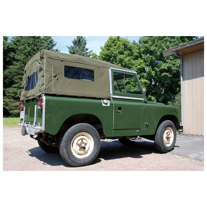 CANVAS TOP FULL LENGTH SERIES, 88 WITH SIDE WINDOWS - GREEN