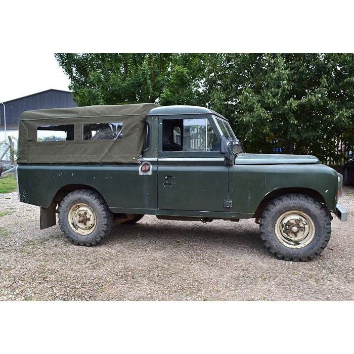 CANVAS TOP 3/4 LENGTH WITH SIDE WINDOWS, 109 / 110 REGULAR PICK UP,   KHAKI GREEN