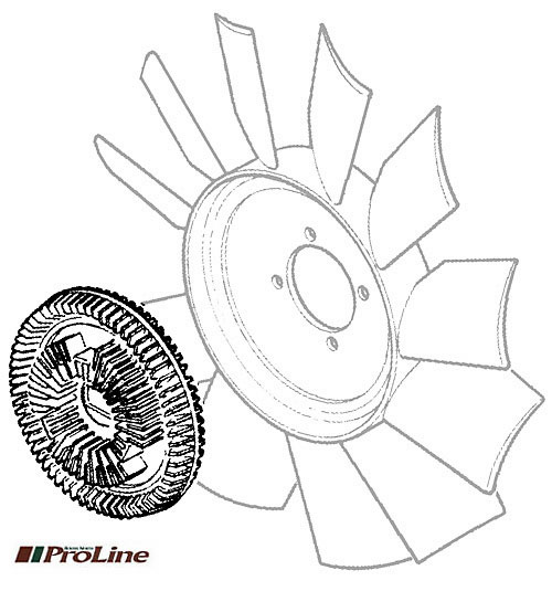 VISCOUS DRIVE - ENGINE FAN R/R CLC 1987-94