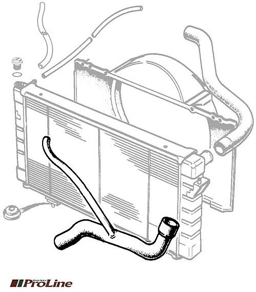 HOSE RADIATOR BOTTOM RANGE ROVER CLASSIC 3.9L V-8 1989