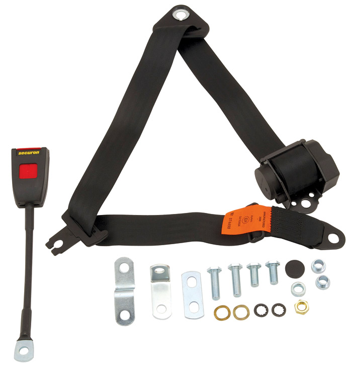 SEAT BELT KIT LH OR RH REEL, BUCKLE & HARDWARE