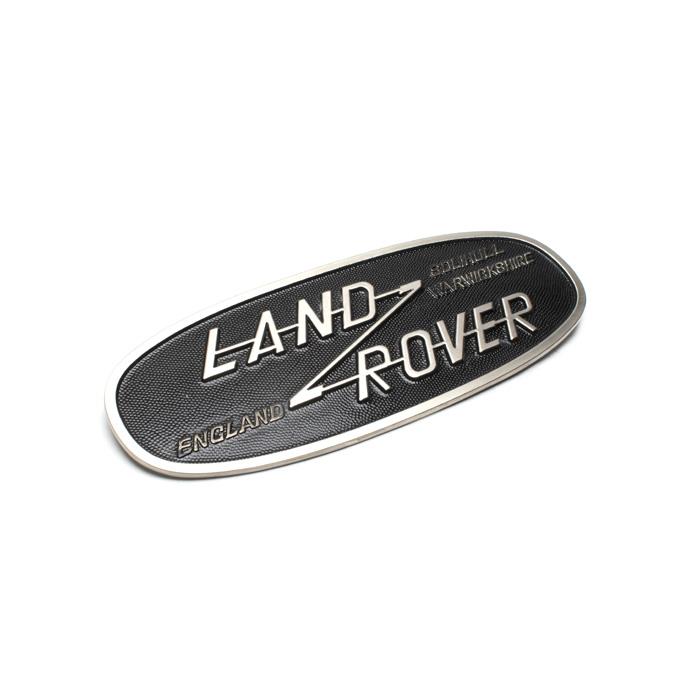 ALLOY BADGE LAND ROVER SERIES II, IIA & III w/o HOLES