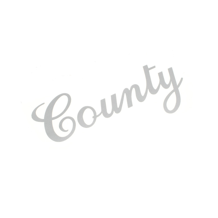 """DECAL """"COUNTY"""" SILVER RANGE ROVER CLC"""