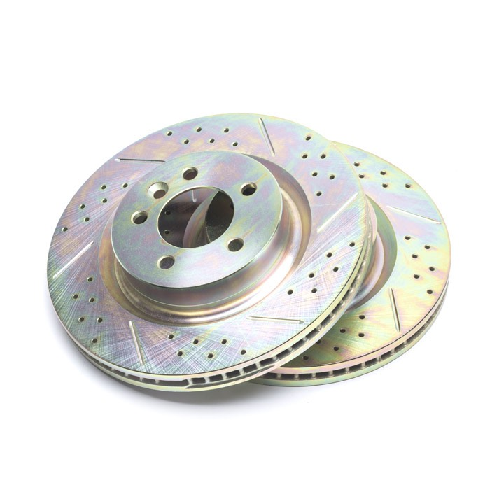 BRAKE DISC SET SLOTTED AND DRILLED FOR FRONT AXLE LR3 & L320