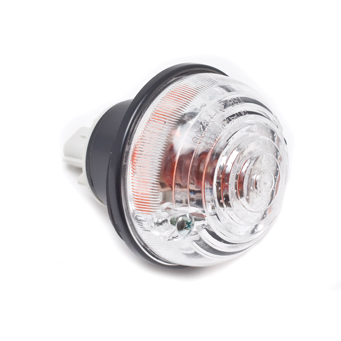 CLEAR  FRONT DIRECTIONAL LAMP ASSEMBLY WITH AMBER BULB