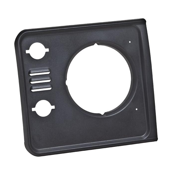 Bezel Finisher Rh Headlamp Defender W Vents Black Granite