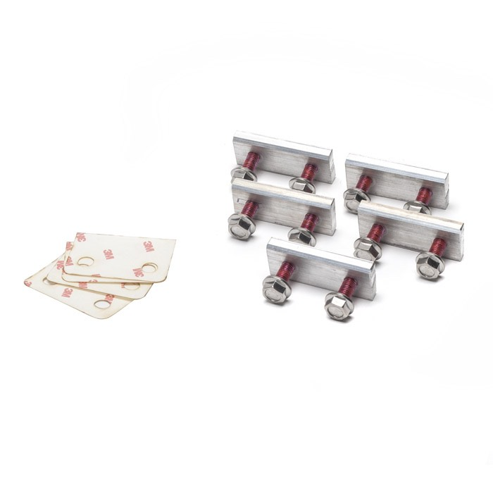 NUT PLATE SET ALUMINUM REAR BED TO CHASSIS  DEFENDER 90 110
