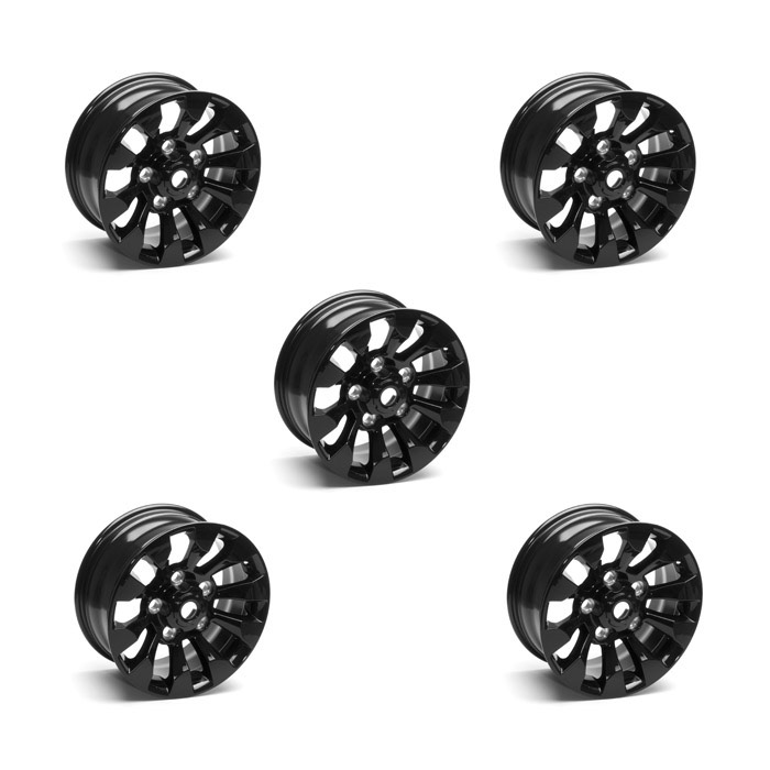 """Sawtooth Alloy Wheel 18"""" x 8"""" Black for Defender 