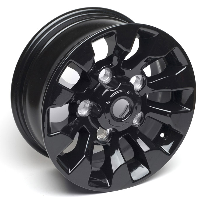 """Sawtooth Alloy Wheel 16"""" x 7"""" Black for Defender 
