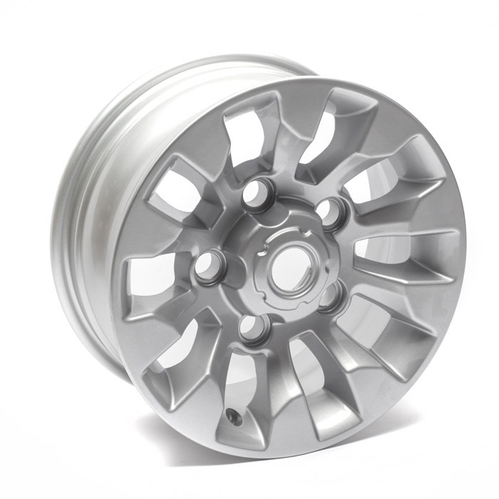 "SAWTOOTH SILVER ALLOY WHEEL 16"" x 7"""
