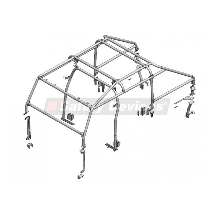 Safety Devices Roll Cage 110 Crew Cab Rovers North