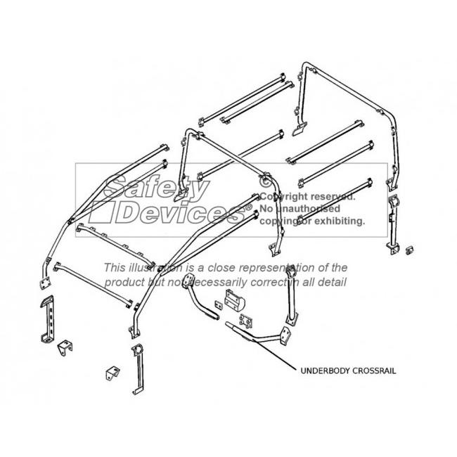 SAFARI CAGE FULL EXTERNAL DEFENDER 110 2 Door