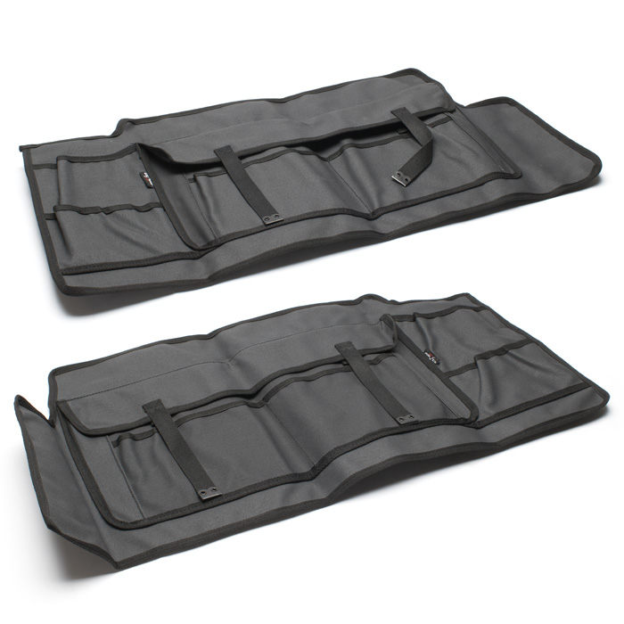 CANVAS FRONT DOOR PANELS (PAIR) FOR DEFENDER, SERIES CHARCOAL