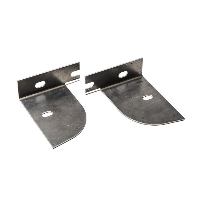 REAR MUDFLAP EXTENSION BRACKETS DEFENDER HI CAP STAINLESS
