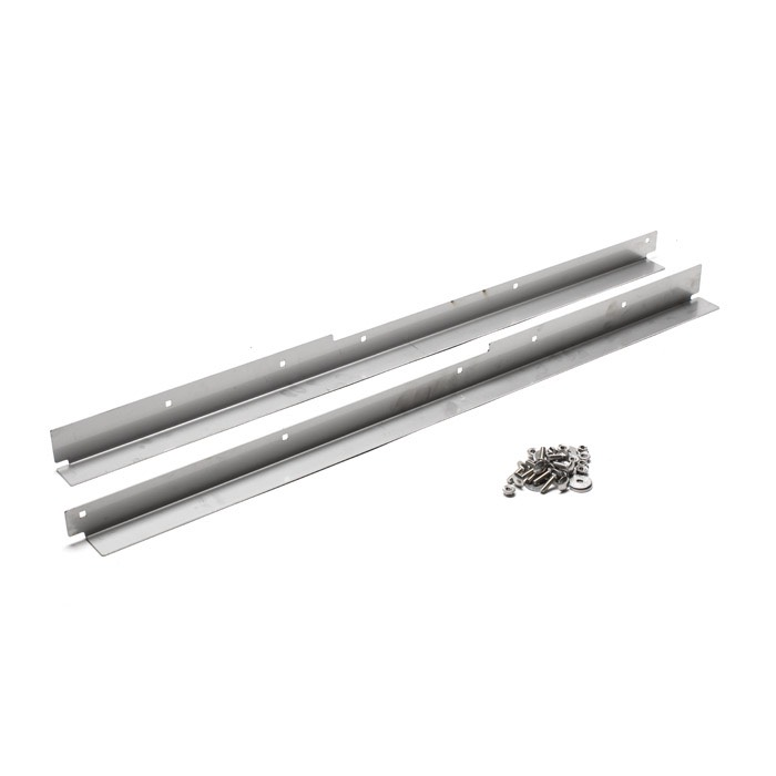 STAINLESS STEEL FRONT DOOR THRESHOLD KIT FOR SERIES and DEFENDER W/O SEAT BELT ANCHOR