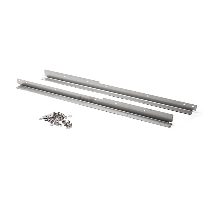 STAINLESS STEEL FRONT DOOR THRESHOLD KIT FOR SERIES AND DEFENDER WITH SEAT BELT ANCHOR