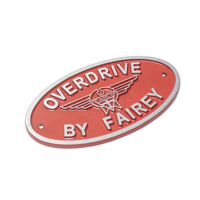 Overdrive By Fairey Cast Aluminum Oval Badge Red