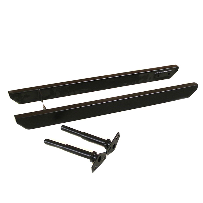 Classic Land Rover Parts: ROCK SLIDERS W/JACK PT DEFENDER 90 BLACK, RNA1001