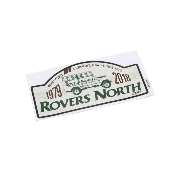 ROVERS NORTH 1979-2019 RALLYE PLATE STICKER
