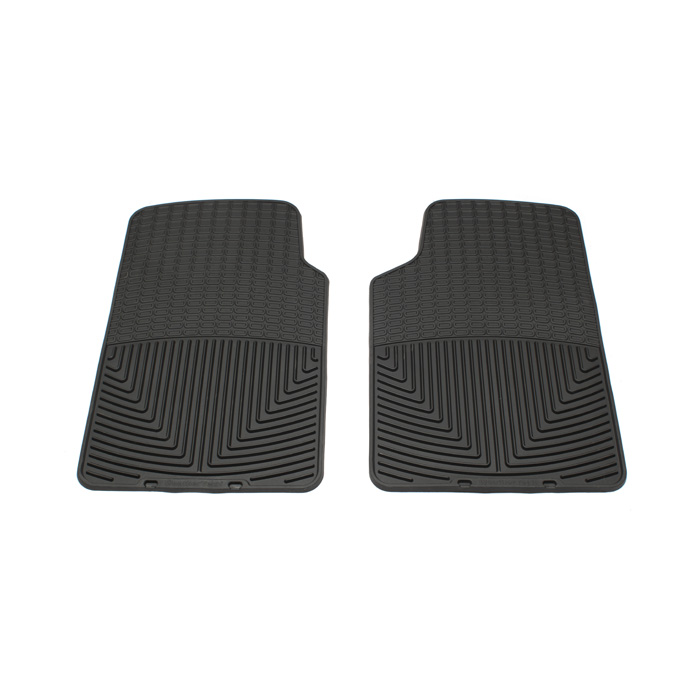 RUBBER MATS - FRONT PAIR - BLACK - RRC, P38A, DISCOVERY I, DISCOVERY II, DEFENDER