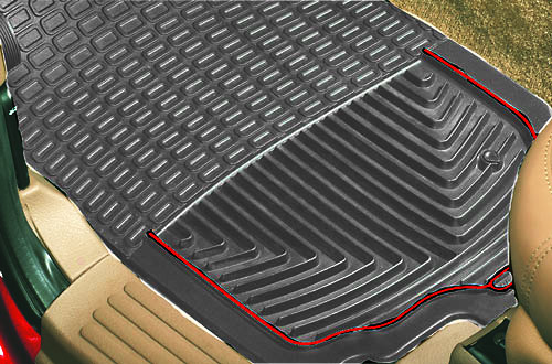 RUBBER MATS - FRONT PAIR - GREY - RRC, P38A, DISCOVERY I, DISCOVERY II, DEFENDER
