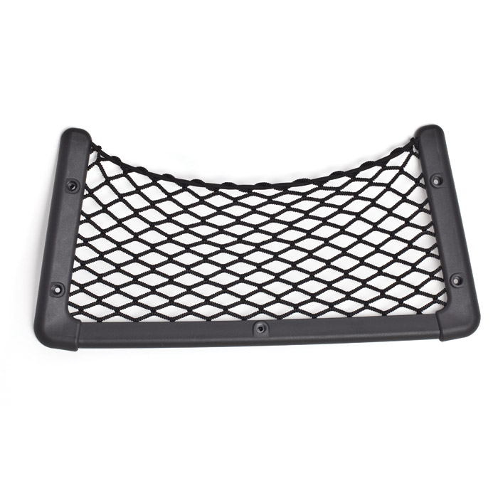 "STORAGE NET 16"" x 7.75 "" WITH BLACK PLASTIC FRAME"