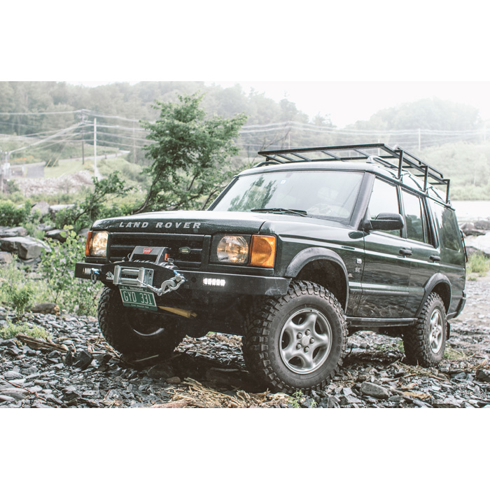 WINCH BUMPER WITH LED LIGHTS FOR DISCOVERY II