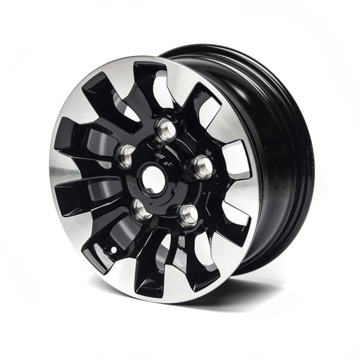 "DIAMOND CUT GLOSS BLACK ALLOY WHEEL 16"" x 7"""