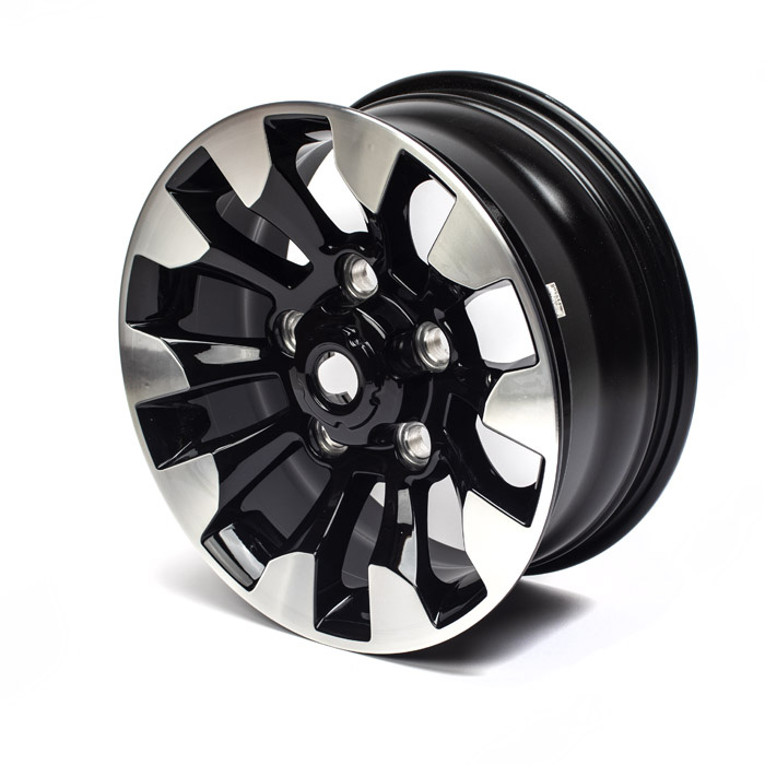 "DIAMOND CUT GLOSS BLACK ALLOY WHEEL 18"" x 8"""
