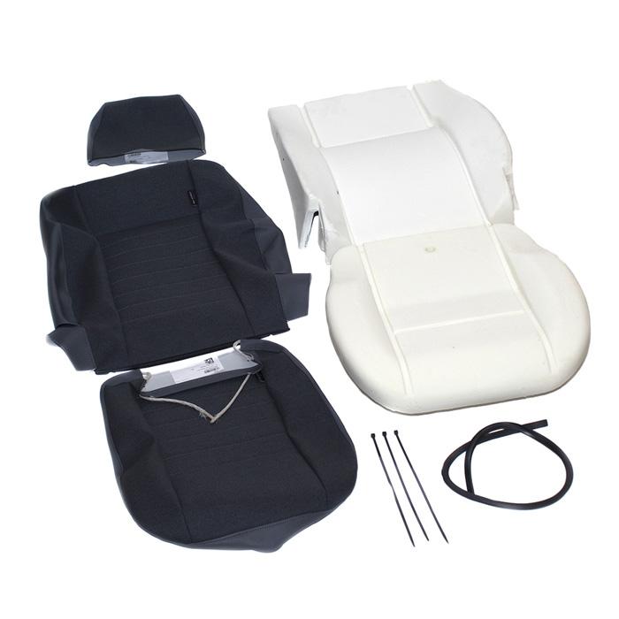 SINGLE FRONT DEFENDER SEAT RETRIM KIT - DENIM TWILL VINYL