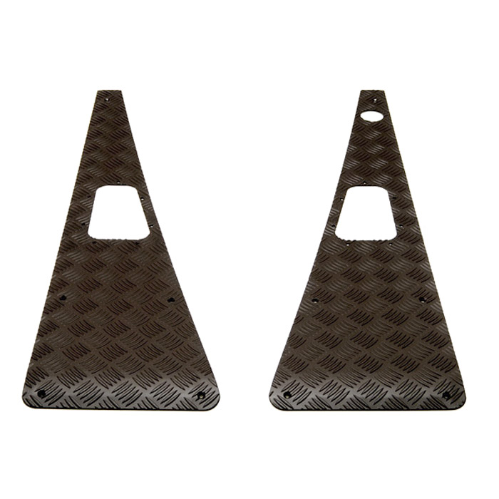 Wing Top Protector Set w/gaskets, LH Aerial in Black for Defender
