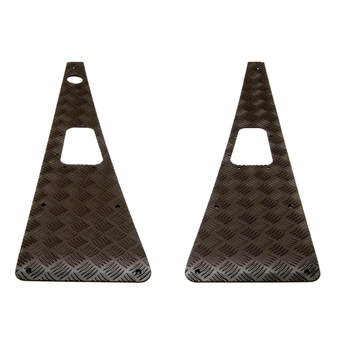 Wing Top Protector Set With RH Aerial in Black for Defender