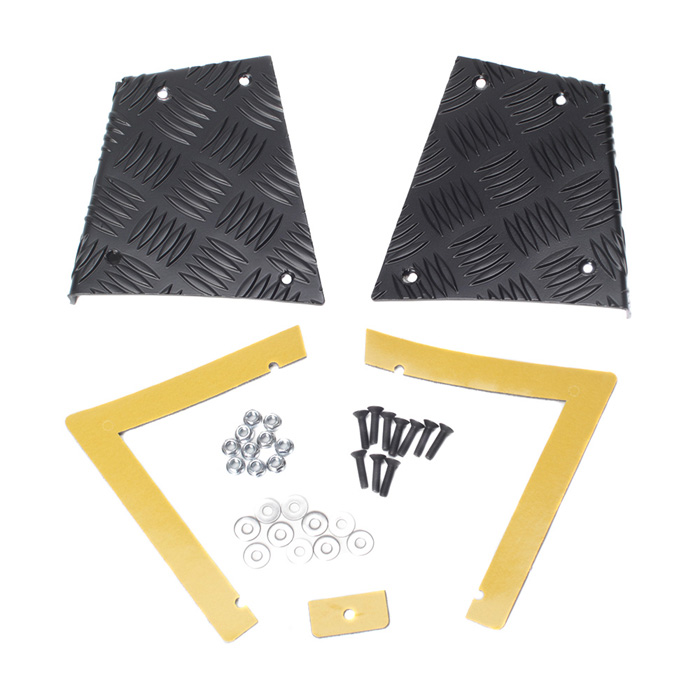 REAR CORNER PROTECTOR SET, 5 BAR CHEQUER PLATE FOR DEFENDER 90. BLACK