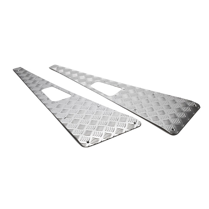 Wing Top Protector Set No Aerial Hole in Anodized Silver for Defender