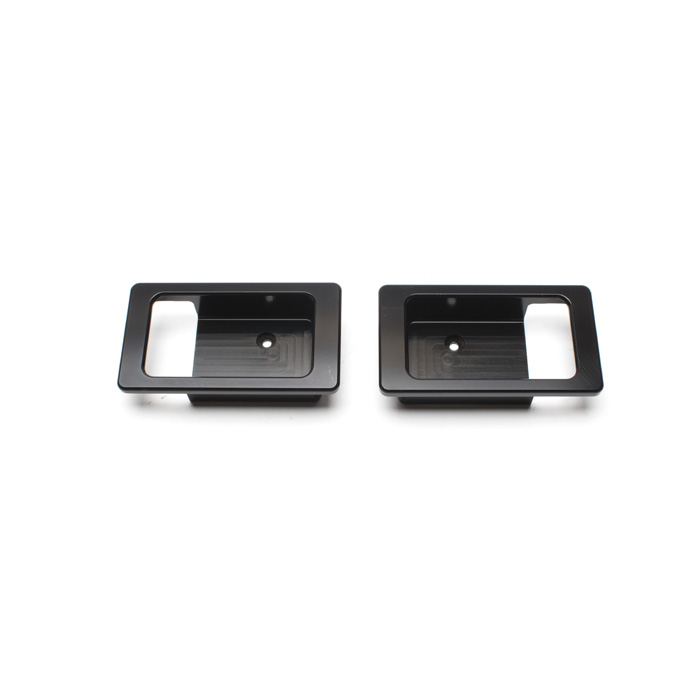 ESCUTCHEON LH/RH INTERIOR DOOR BLACK ALUMINIUM FINISH PAIR