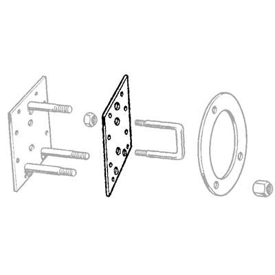 PLATE - SPARE TYRE CARRIER DEFENDER 90/110 REAR DOOR