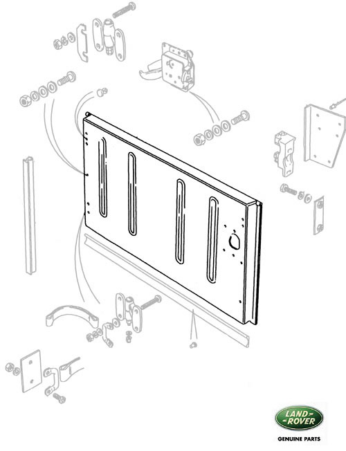 Swing Gate Rear Bare Use Alr7259 Rovers North