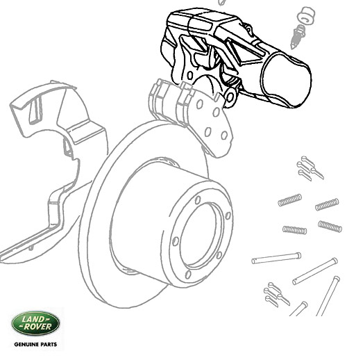 FRONT BRAKE CALIPER, LH, DISCOVERY I w/ABS
