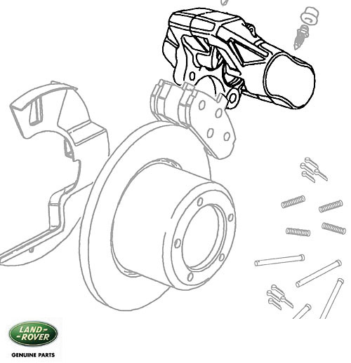 FRONT BRAKE CALIPER, RH, DISCOVERY I w/ABS