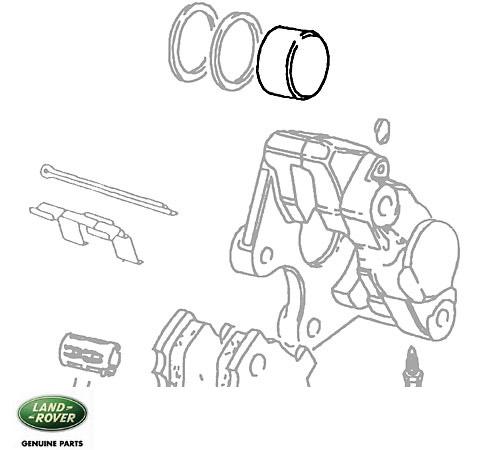 Piston Kit Rear Brake Caliper Defender 90, Range Rover Classic & Discovery I. Genuine