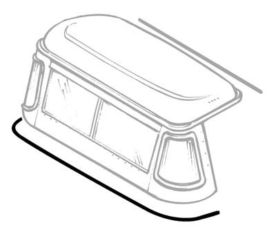 SEAL - CAB TOP BOTTOM-SEAT BULKHEAD - SERIES & DEFENDER