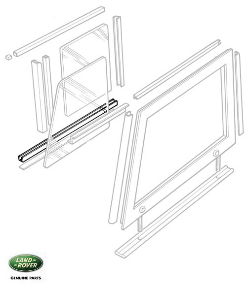 WINDOW TRACK DOOR TOP LOWER  SERIES II, IIA & III