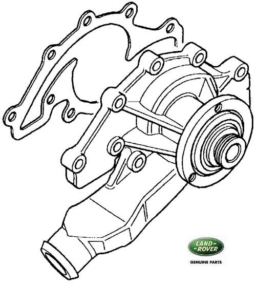 Classic Land Rover Parts: WATER PUMP '95 RANGE ROVER CLASSIC DISCOVERY I, DISCOVERY