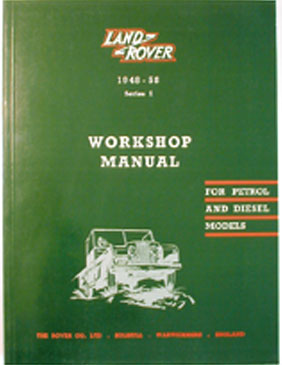 WORKSHOP MANUAL - SERIES I 1948-58