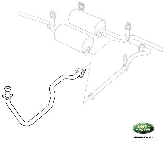 front exhaust pipe - 88  u0026 109 exmod - series iia  u0026 iii  rnc217  517469