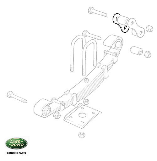 """SHACKLE REAR SPRING 109"""" 1 TON & MILITARY SUSPENSION"""
