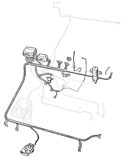 WIRE HARNESS LATE SERIES IIA w/ENGINE-DYNAMO HARNESS
